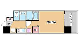 兵庫県神戸市兵庫区佐比江町の賃貸マンションの間取り