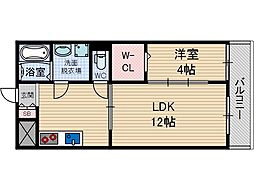 ボナール水尾[3階]の間取り