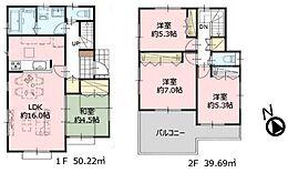 参考プラン 建物面積1200万円、敷地面積115?、延床面積89.91?