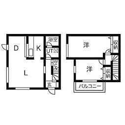 [テラスハウス] 神奈川県茅ヶ崎市松浪1丁目 の賃貸【/】の間取り
