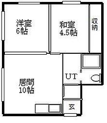北海道札幌市白石区菊水元町四条1丁目の賃貸アパートの間取り