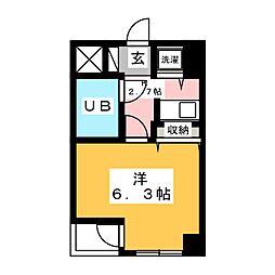 宮城県仙台市若林区表柴田町の賃貸マンションの間取り