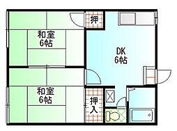 新川崎コーポラスA棟[103号室]の間取り