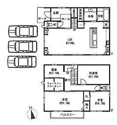 [一戸建] 兵庫県神戸市垂水区舞多聞西8丁目 の賃貸【/】の間取り