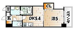 福岡県北九州市戸畑区牧山1丁目の賃貸マンションの間取り