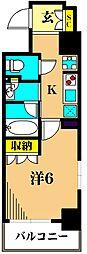 プレール・ドゥーク品川南大井 2階1Kの間取り