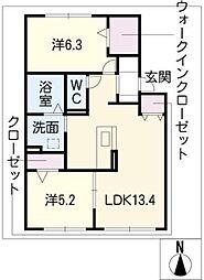 プルミエII[2階]の間取り