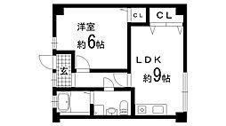 兵庫県神戸市北区南五葉1丁目の賃貸マンションの間取り