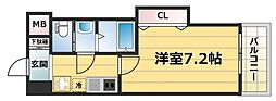 Luxe鶴見(ラグゼ鶴見) 10階1Kの間取り
