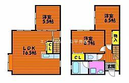 [一戸建] 岡山県岡山市中区さい の賃貸【岡山県 / 岡山市中区】の間取り