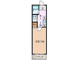 三重県桑名市野田5丁目の賃貸アパートの間取り