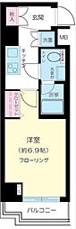 プレール・ドゥーク北新宿[201号室号室]の間取り