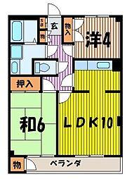 シミズマンション[2階]の間取り