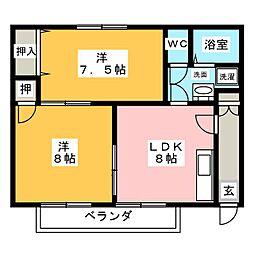 ハビテーション要[2階]の間取り