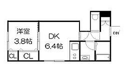 ラフレーズN34East[3階]の間取り