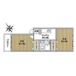 渋谷ローヤルコーポ[3階]の間取り