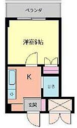 千葉県千葉市緑区古市場町の賃貸マンションの間取り