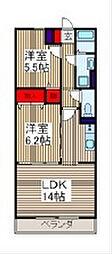 埼玉県さいたま市南区内谷4丁目の賃貸マンションの間取り