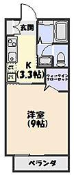 メゾン新松ヶ島II[206号室]の間取り