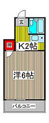 FUJI AP1[2階]の間取り