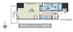 JR総武線 浅草橋駅 徒歩6分の賃貸マンション 5階1Kの間取り