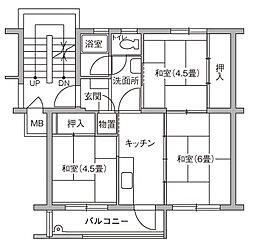 UR豊四季台[85-301号室]の間取り