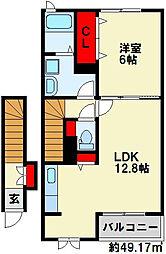 サニープレイス大平[2階]の間取り