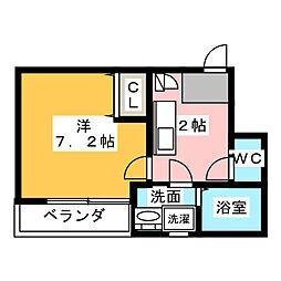 クレフラスト新守山駅前B棟[2階]の間取り