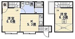 [テラスハウス] 神奈川県逗子市逗子6丁目 の賃貸【/】の間取り