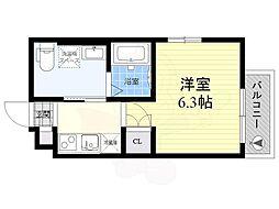 東武伊勢崎線 東向島駅 徒歩4分の賃貸アパート 1階1Kの間取り