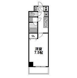 サムティ江坂Vangelo[5階]の間取り