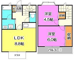 [テラスハウス] 東京都練馬区西大泉1丁目 の賃貸【東京都 / 練馬区】の間取り