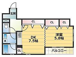 MSコート[7階]の間取り