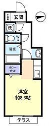 千葉県八千代市村上南5丁目の賃貸アパートの間取り