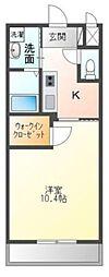 高松琴平電気鉄道琴平線 三条駅 徒歩14分の賃貸アパート 2階1Kの間取り