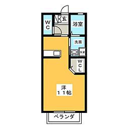 グリーンワースI[1階]の間取り