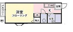 クレストコートC[1階]の間取り