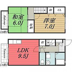 [テラスハウス] 千葉県千葉市若葉区みつわ台1丁目 の賃貸【/】の間取り