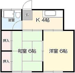 コーポ田村[202号室]の間取り