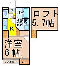 Graz名古屋駅北[2階]の間取り