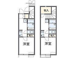 レオネクスト新宿台[2階]の間取り