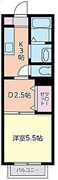 グランシードFUJIMI[108号室]の間取り