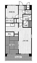 サンパレス池田93[2階]の間取り