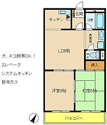 フローラルハイツダイキ3[3階]の間取り