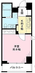 東京都調布市若葉町2丁目の賃貸アパートの間取り