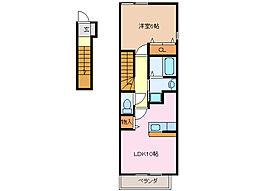 クローバー・MII A、B棟[2階]の間取り
