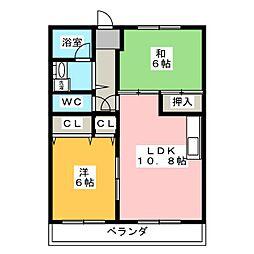 ルベルアジュ[3階]の間取り