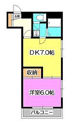 埼玉県新座市馬場2丁目の賃貸マンションの間取り