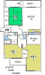 ライムライト松風台3[310号室号室]の間取り