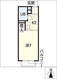 ドーミトリ前山C棟[2階]の間取り